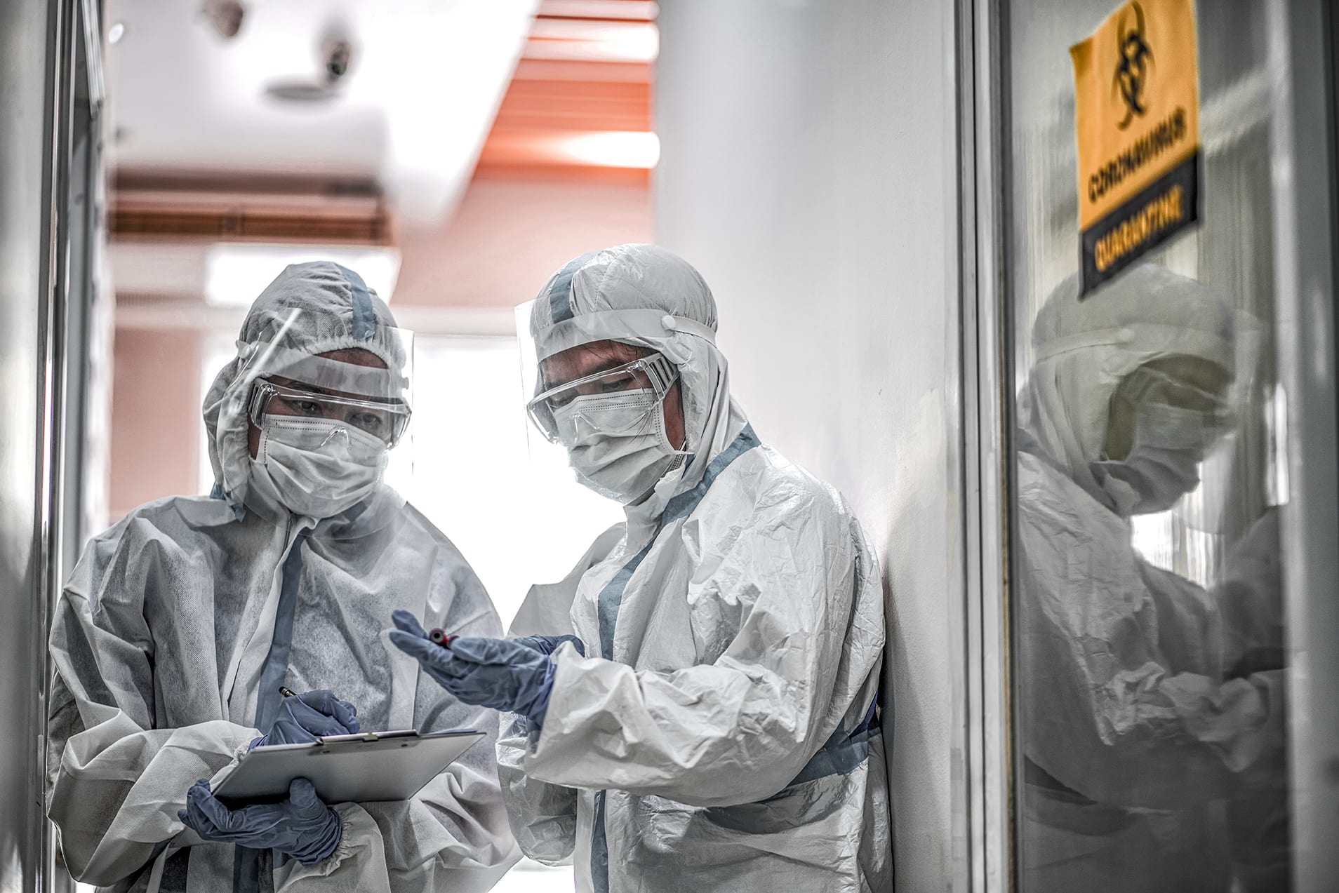Two doctors in PPE