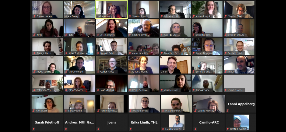 Screenshot of all the PANDEM-2 partners at the plenary meeting