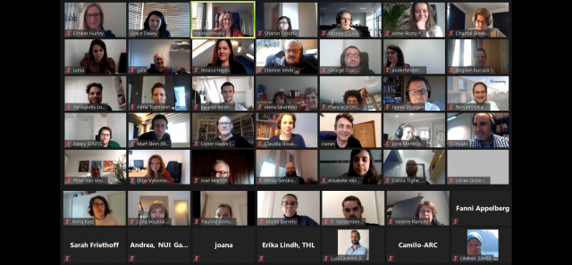 Screenshot of all the PANDEM-2 partnersmembers at the kickoff meeting