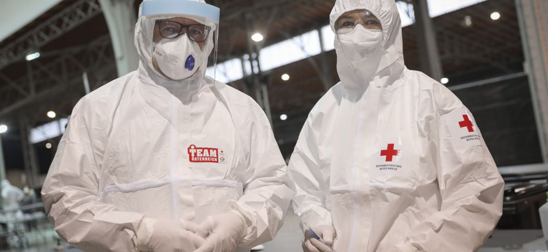 Austrian Red Cross Hazmat Suits